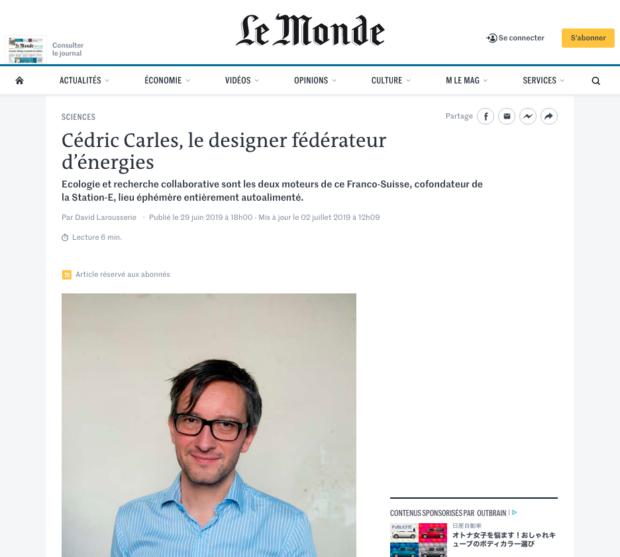 Le Monde Cédric Carles